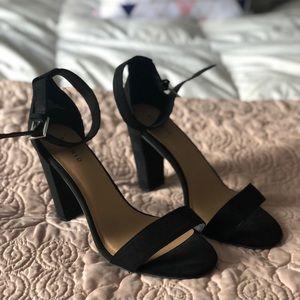 Torrid NWT black two strap tapered heel